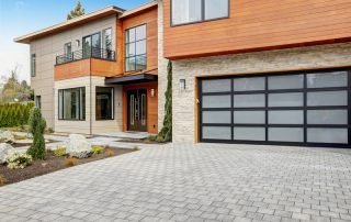 Contemporary Home With Aluminum Glass Garage Door
